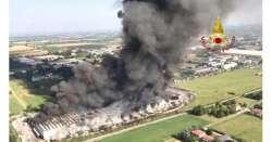 ANSA 11 08 2019 :                        Incendio Faenza è sotto controllo