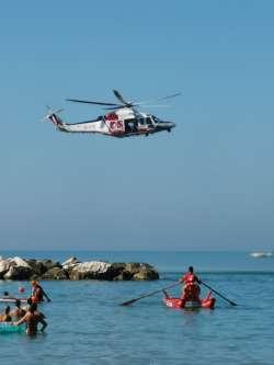ANSA 12 08 2019 :                        Esercitazione sicurezza in mare Termoli