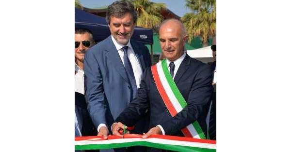 ANSA 14 09 2019 :                        Marsilio inaugura 'Ecomob' a Pescara