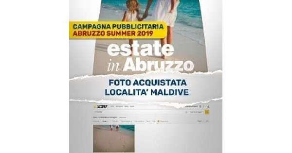 ANSA 4 10 2019 :                        Abruzzo con foto Maldive. Nessun inganno
