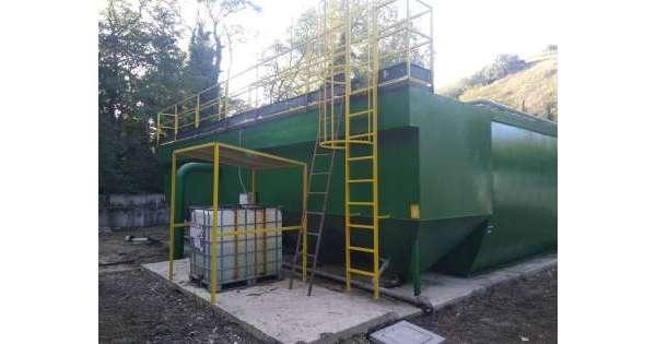 ANSA 14 10 2019 :                        Finiti lavori depuratore Serramonacesca