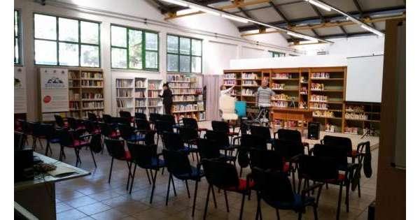 ANSA 17 10 2019 :                        Riapre biblioteca Falcone&Borsellino
