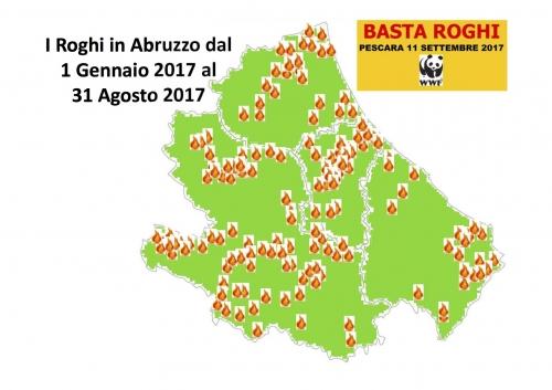 Abruzzo martoriato dal fuoco: numeri record secondo Wwf (210 in otto mesi)