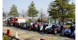Chieti. Flash mob delle forze dell'ordine agli operatori sanitari