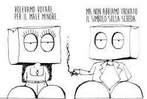 Non si vota, ci si ammucchia