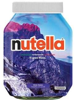L'Abruzzo da… spalmare: c'è il Gran Sasso sui vasetti griffati della Nutella
