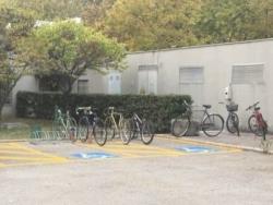 Università, bici al posto dei disabili