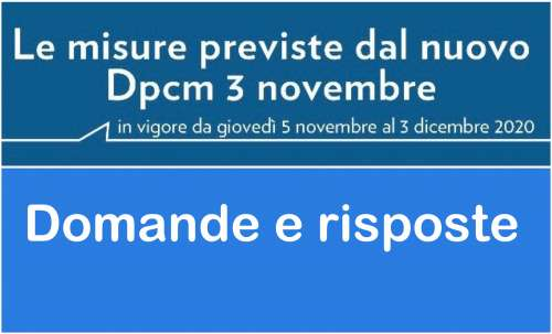 Il Presidente Conte ha firmato il nuovo DPCM, in vigore dal 5 novembre scadrà il 3 dicembre