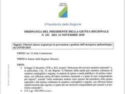 L'Abruzzo in zona rossa da mercoledì