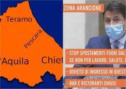 L'Abruzzo torna in zona arancione da domenica 17