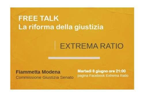 Stasera diretta Facebook sul Canale Extrama Ratio