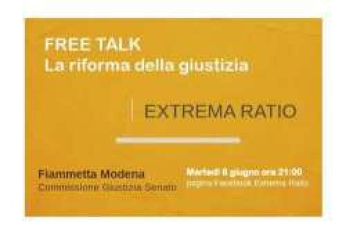 Stasera diretta Facebook sul Canale Extrema Ratio ore 21:00