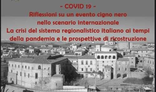 L'impatto del Covid nel regionalismo dopo riforma Titolo V: dibattito a Città Sant'Angelo