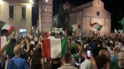 VIDEO. Teramo festeggia l'Italia Campione d'Europa
