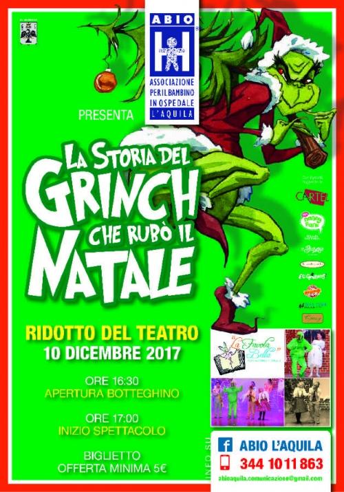 Bimbi, solidarietà e teatro: Abio L'Aquila e la storia del Grinch che rubò il Natale