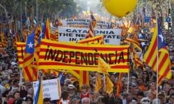 Bruxelles: manifestazione a favore dell'indipendenza catalana