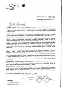 Monnezza romana in Abruzzo, la Raggi scrive a D'Alfonso: ecco la lettera