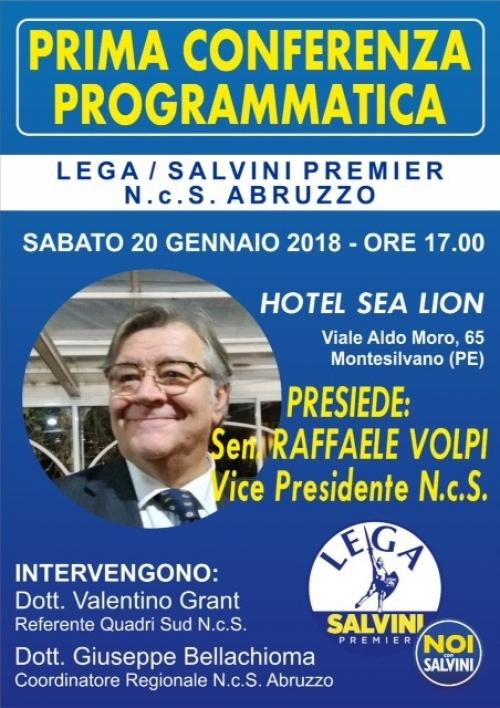 Lega Abruzzo: sabato 20 a Montesilvano la prima conferenza programmatica