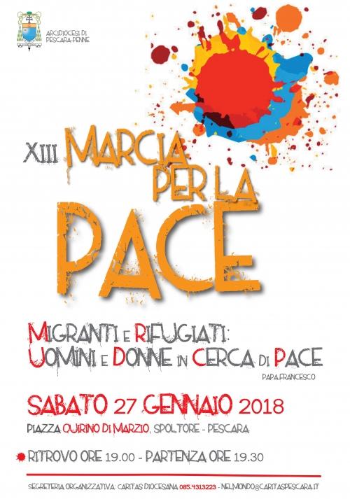 A Spoltore la XIII Marcia per la Pace organizzata dall'Arcidiocesi Pescara-Penne
