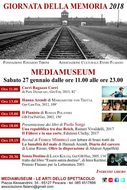 Giornata della memoria:cosa fare il 27 gennaio al Mediamuseum di Pescara?