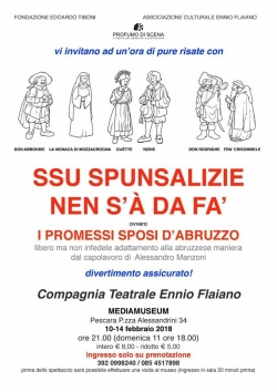 Pescara, al Mediamuseum I Promessi sposi in dialetto abruzzese