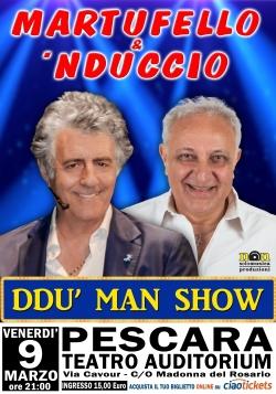 Pescara, risate assicurate con il duo comico Martufello e Nduccio