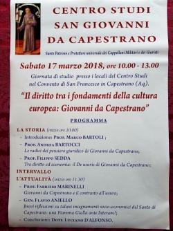 Capestrano, una giornata di studi al Convento di San Francesco