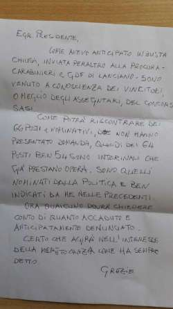 Assunzioni alla Sasi, cosa c'è scritto nella nuova segnelazione anonima