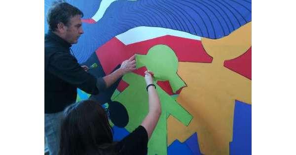 Maxi murales in scuola media Teramo