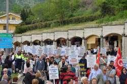 San Gabriele, marcia sicurezza sul lavoro