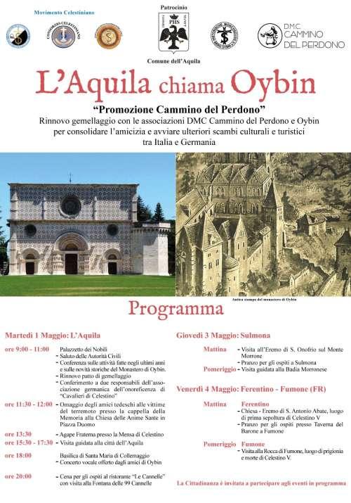 Gemellaggio L'Aquila - Oybin nel nome di Celestino V