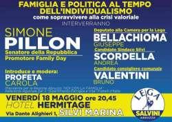 Famiglia e politica al tempo dell'individualismo: Pillon a Silvi Marina