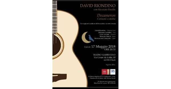 Riondino,chitarra e voce per 'Decameron'