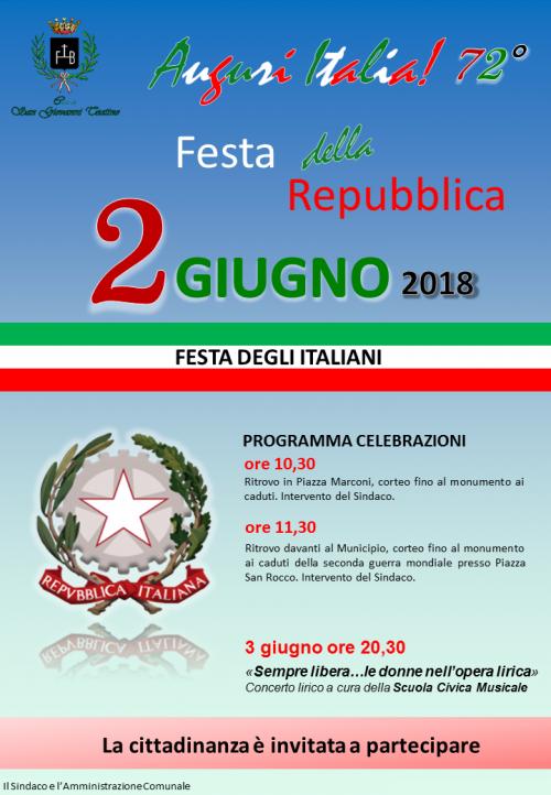 Festa della Repubblica, ecco le celebrazioni a San Giovanni Teatino