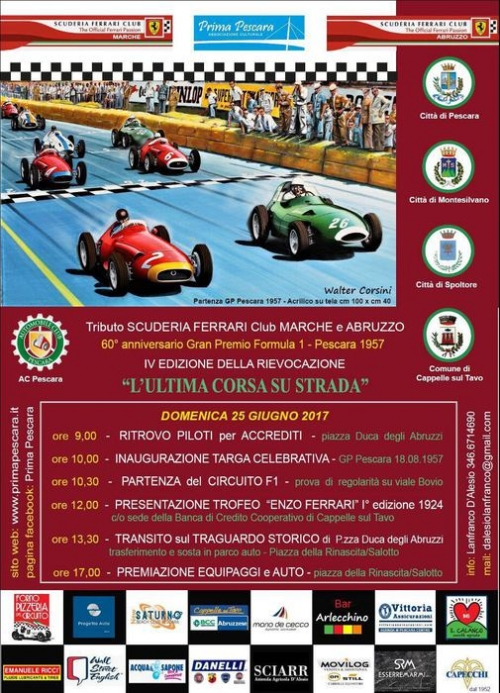 A Pescara si rivive il Gran Premio Formula 1