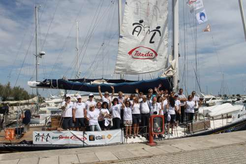 Tappa a Pescara della barca di
