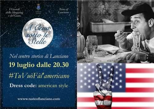 A cena sotto le stelle nel centro storico di Lanciano