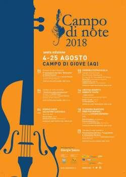 Dal 4 al 25 Agosto la sesta edizione di Campo di note