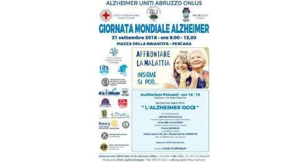 Alzheimer, domani evento a Pescara