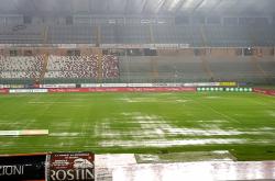 Il Pescara fermato dalla pioggia: gara col Padova rinviata