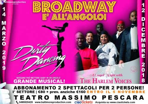 Pescara, al via la nuova stagione musicale BROADWAY E'ALL'ANGOLO!