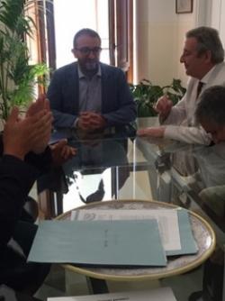 Il sindaco Biondi incontra l'ambasciatore dell'Argentina