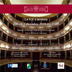 Lanciano, ecco la presentazione della Stagione Teatrale 2018/2019