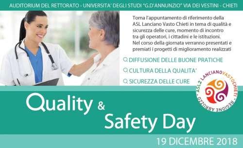 Domani alla Asl Chieti il 'Quality & safety day' - Più sicurezza per i pazienti