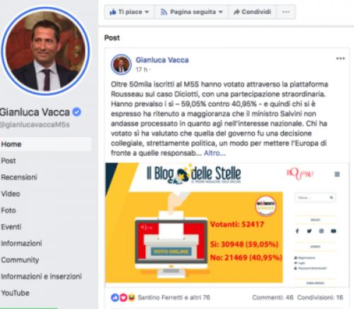 Rousseau e Salvini: monta la rabbia pentastellata