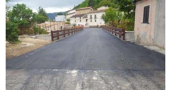 Riapre ponte di Beffi sulla Subequana