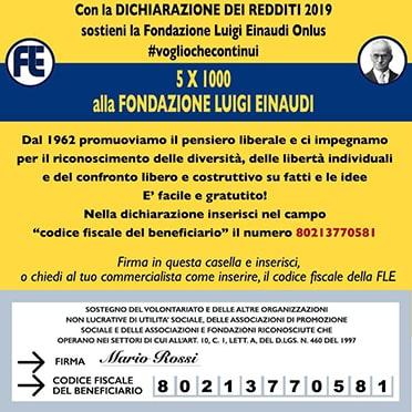 Supporta la Fondazione Luigi Einaudi