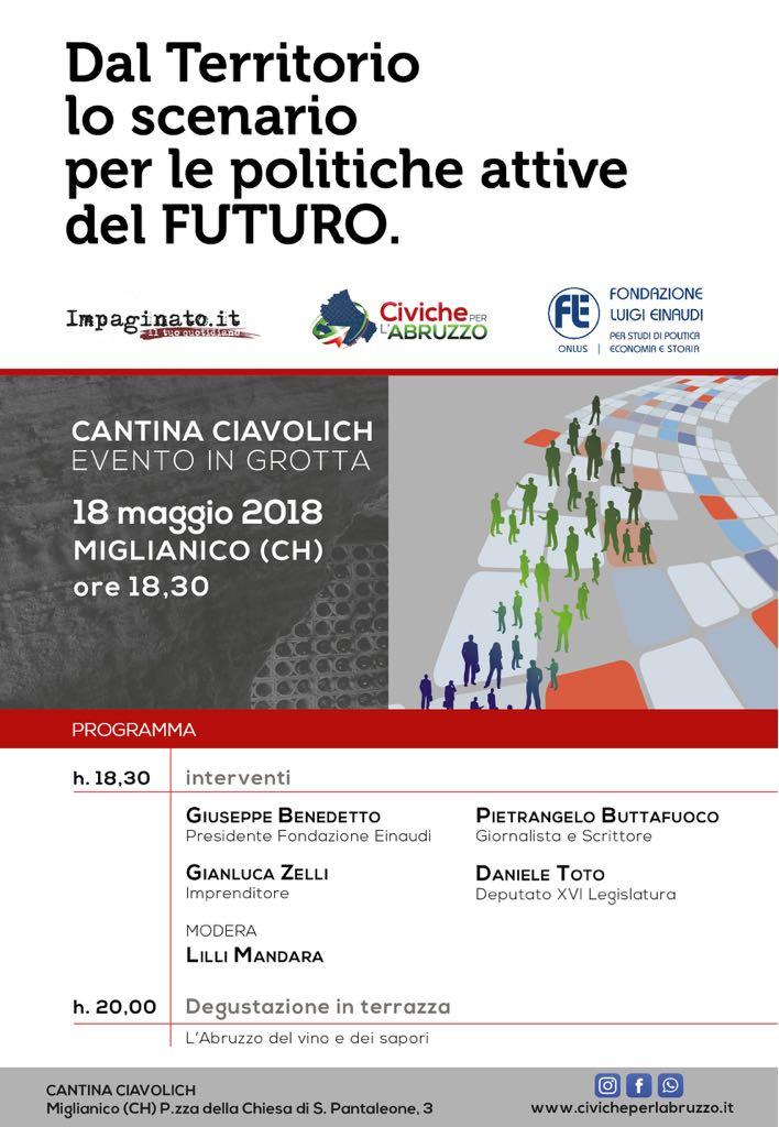 L'altro Abruzzo - Riflessioni e Scenari - evento presso la cantina Ciavolich  - Miglianico (Ch) 18/05/2018 - h 18:00