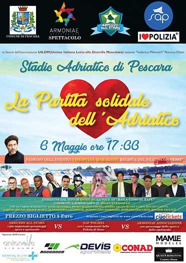 Stadio Adriatico di Pescara - Partita Solidale 06/05/2018