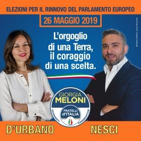 MARGHERITA D'URBANO - DENIS NESCI- Elezioni Europee 2019